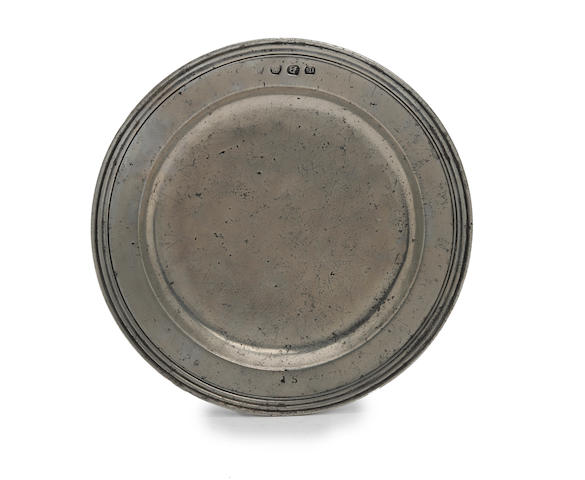 A triple reeded plate, circa 1690