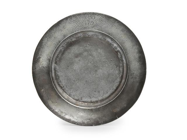 A plain rim plate, circa 1700