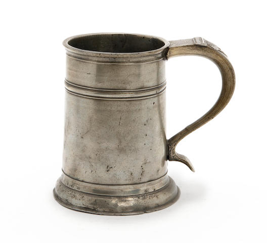 A rare Penrith pint high single-fillet tavern pot, circa 1710