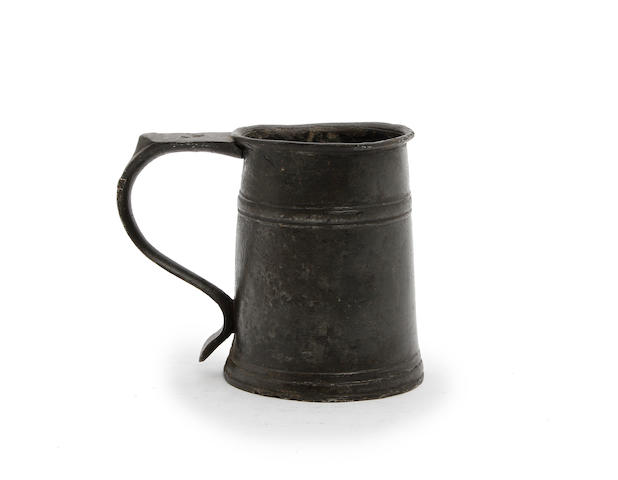 A half-pint high single-fillet tavern pot, circa 1720