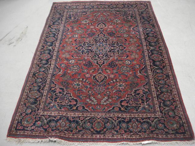 A Kashan rug, Central Persia, 202cm x 132cm