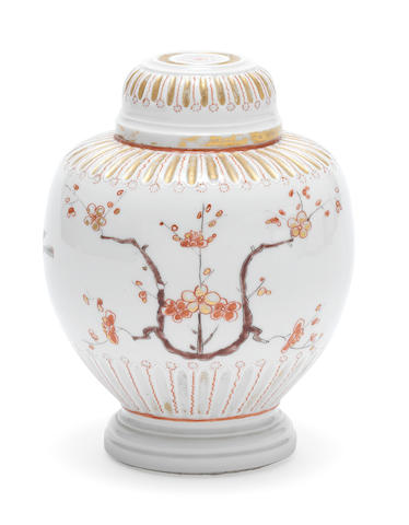 A documentary Dutch-decorated early Meissen vase and cover, the porcelain circa 1715-20, the decoration dated 1725