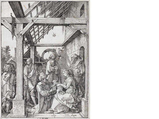Albrecht Dürer (German, 1471-1528) The Adoration of the Magi Woodcut, on thin watermarked laid, 295 x 217mm (11 5/8 x 8 1/2in)(PL)