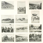 Two rare sets of twelve De Dion Bouton 'Raid Pekin-Paris' postcards, French, 1907,