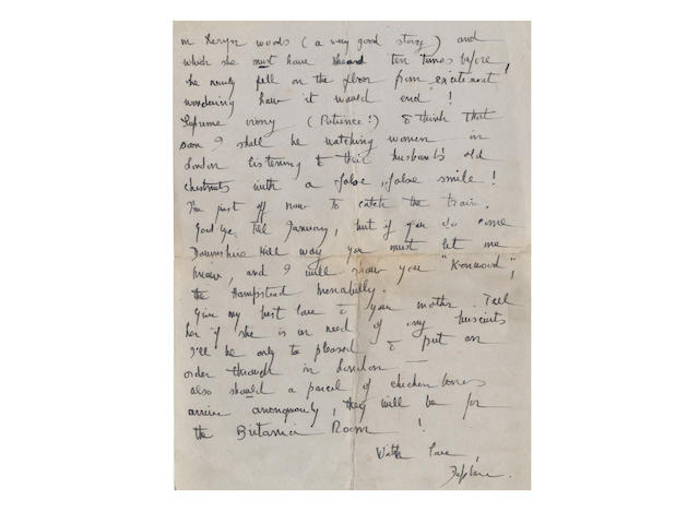 "DU MAURIER (DAPHNE) Series of some two hundred autograph and typed letters signed (""Daphne""), to her close friend Foy Quiller-Couch, c.1929-1977"