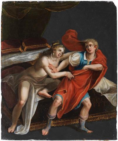 Pasquale Ottino (Verona 1578-1630) Joseph and Potiphar's wife unframed