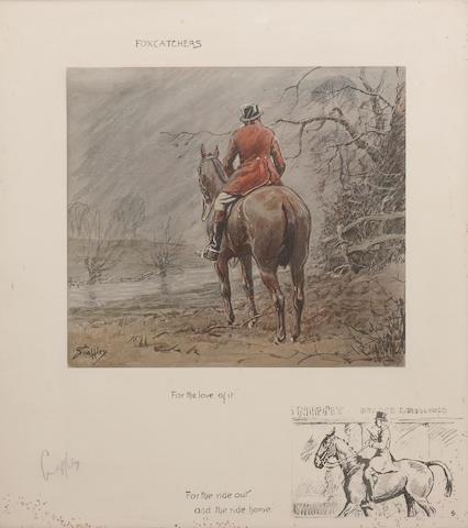 Charlie Johnson Payne, 'Snaffles' (British, 1884-1967) 'Foxcatchers'