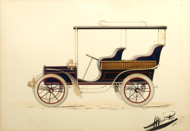 An original Vanden Plas coachwork design, 1903,