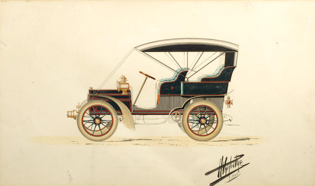 An original Vanden Plas coachwork design, 1904,