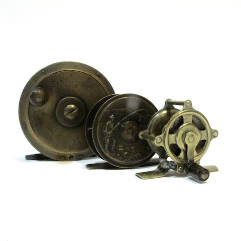 A St Lucas all brass 3½in. plate wind reel