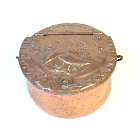 A copper fish cauldron, circa 1800