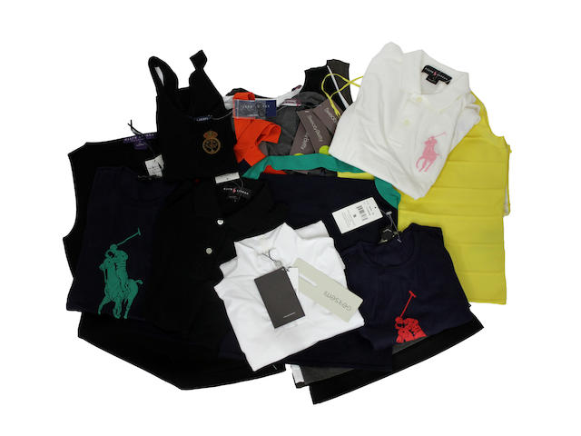 A quantity of sportswear and Ralph Lauren tops