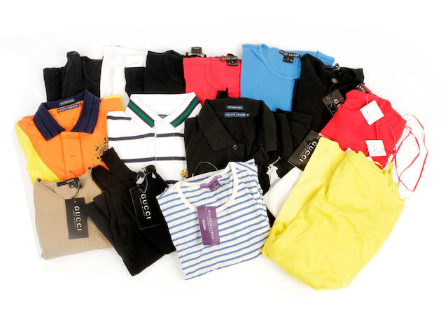 A quantity of mostly Ralph Lauren tops