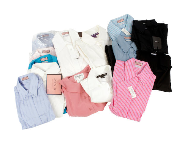 A quantity of designer shirts