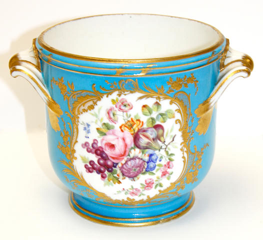 A Sèvres later-decorated seau à bouteille, porcelain circa 1770-80