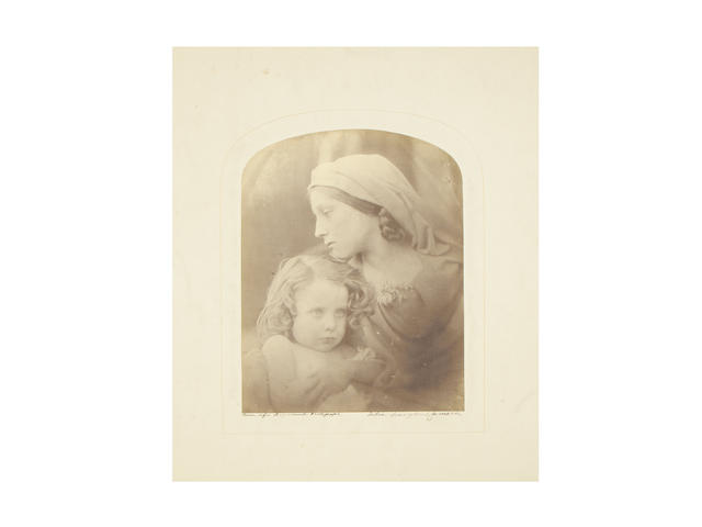 "PHOTOGRAPHY. CAMERON (JULIA MARGARET) ""La Madonna Aspettante 