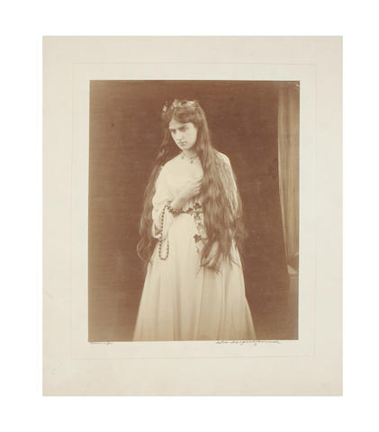 "PHOTOGRAPHY. CAMERON (JULIA MARGARET) ""Memory. Marie Spartali"", September 1868"