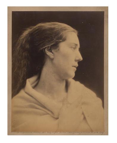 PHOTOGRAPHY. CAMERON (JULIA MARGARET) Mrs. Enid Layard, 1869