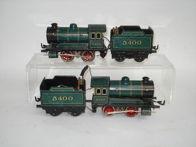 Two Bing battery operated 0-4-0 locomotive and tender No.5400 2