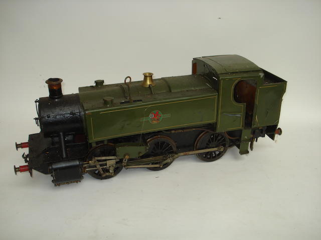 A 3 1/2in gauge live steam 0-6-0 Great Western side tank engine no.9001