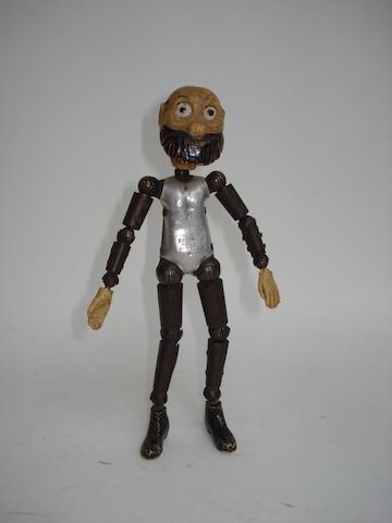 Boucher metal jointed Captain from The Katzenjammer Kids