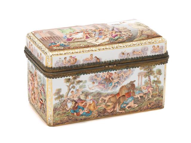 A Meissen Capodimonte style box