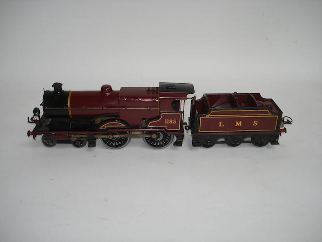 Hornby Series No.2 Special 4-4-0 engine 1185 and LMS tender