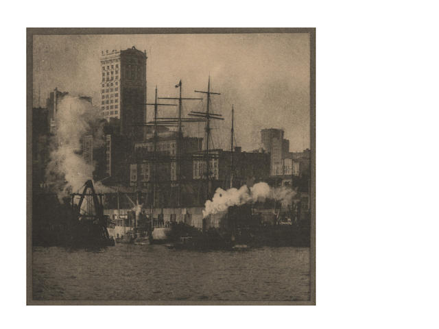 PHOTOGRAPHY. COBURN (ALVIN LANGDON) A group of 19 loose views from his book, <i>New York</i>, [1910] (19)