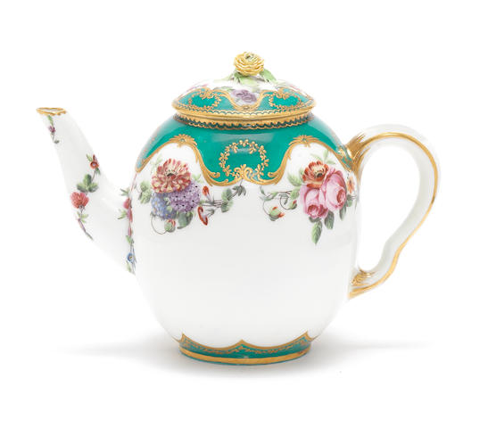 A Sèvres teapot and cover, circa 1761