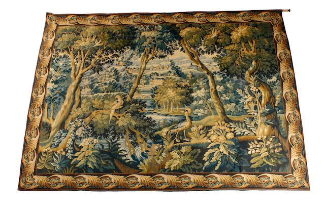A 20th century Flemish style machine made tapestry