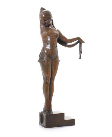 Pierre Fournier des Corats A Patinated Bronze Study, circa 1925