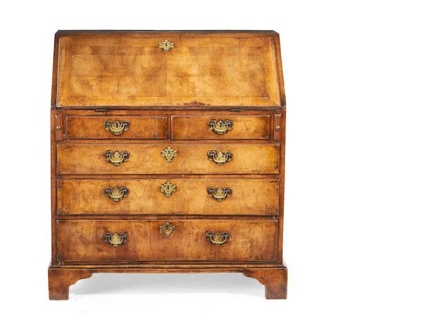 A George II walnut bureau