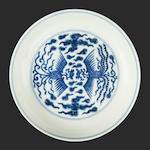 A blue and white saucer dish Guangxu six-character mark