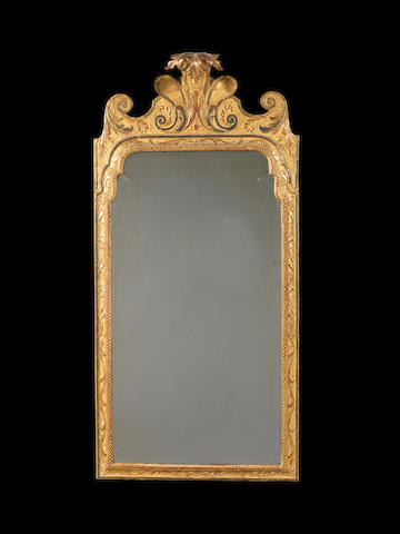 A George I carved giltwood and cut gesso mirror