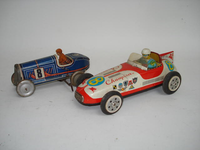An Asahi Toy Corp tinplate Champion No.8 racing car 3