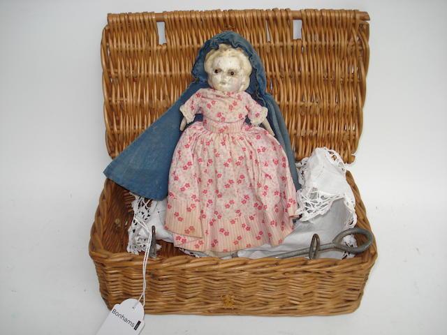 Wax over composition Pumpkin head doll