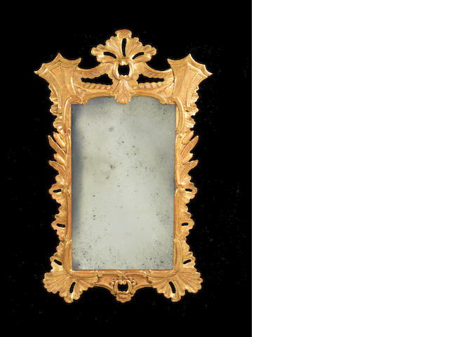 A George III Irish carved giltwood  mirror