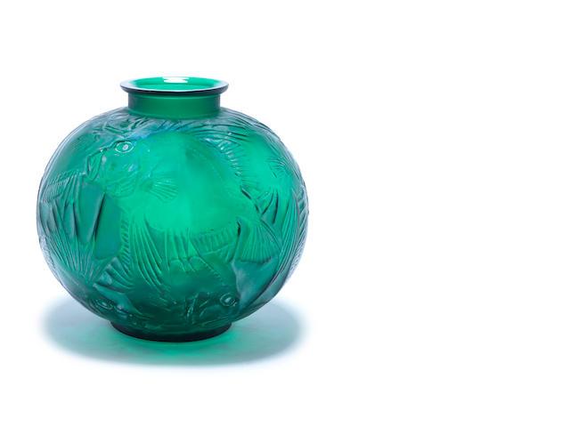 René Lalique  'Poisson' a Vase, design 1921