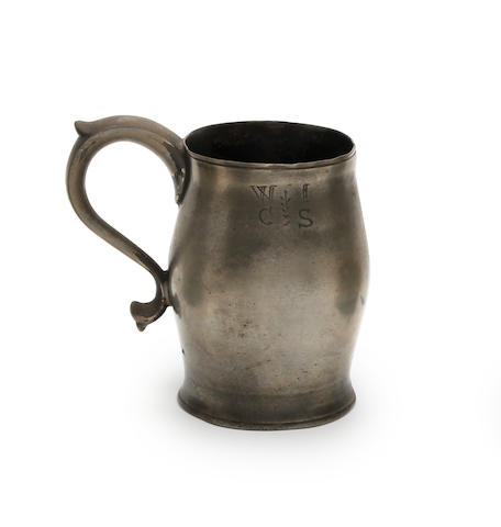 A Scottish mutchkin plain barrel-shaped mug