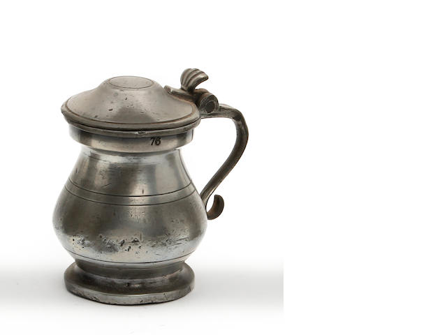 A 19th Century Scottish gill lidded bulbous measure