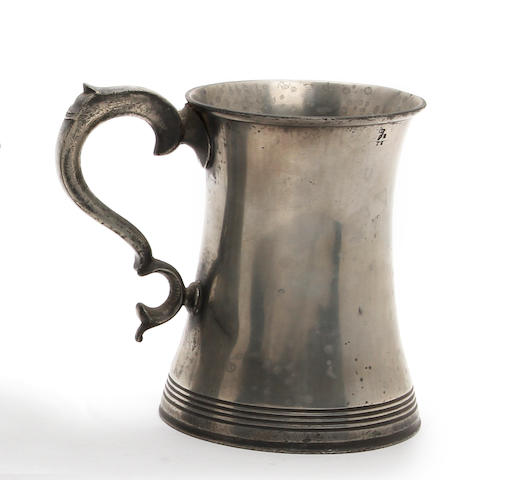 An Irish concave-sided pint mug, circa 1845