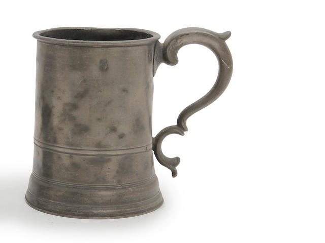 An Irish straight-sided quart mug, circa 1860
