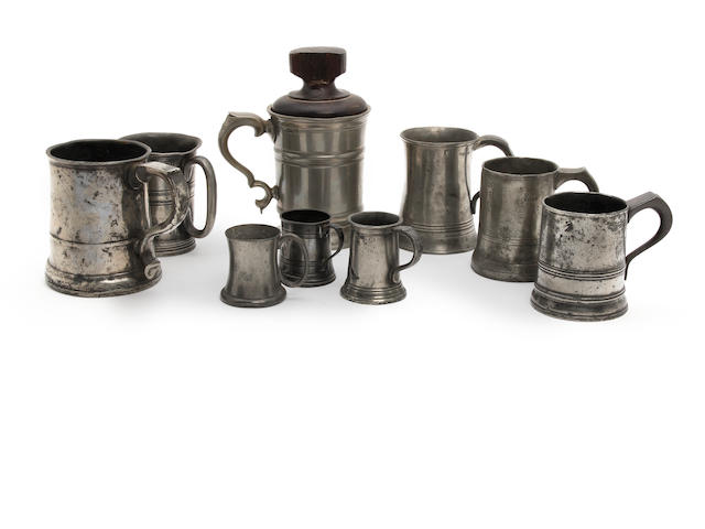 A quantity of 18th/19th Century mugs
