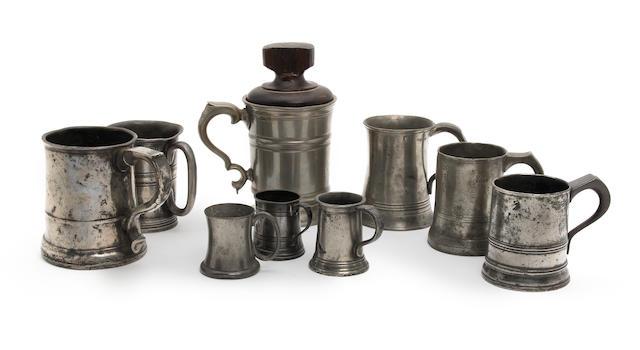 A quantity of 18th/19th Century mugs