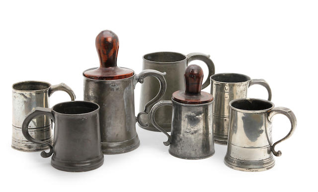 A group of 18th Century straight-sided mugs