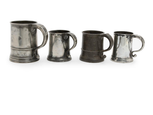 A quart straight-sided mug, circa 1760