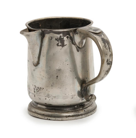 An Ale quart U-shaped spouted mug, circa 1730