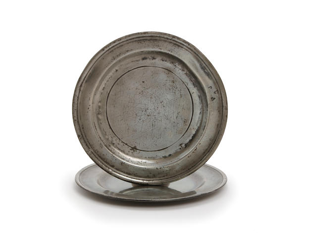 A Cornish single-reeded plate, circa 1740