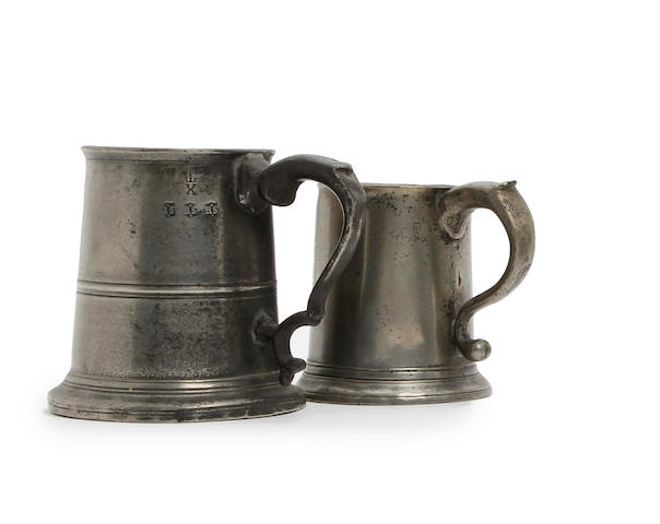 A Newcastle-Upon-Tyne pre-Imperial half-reputed-quart mug, circa 1770