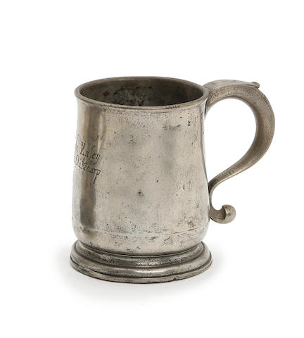 An Ale pint U-shaped mug, circa 1730